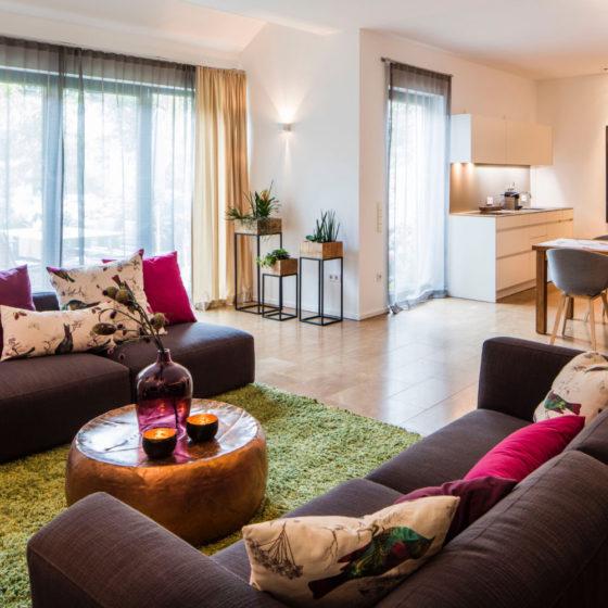 Loblocher Hof - Ferienwohnung 3 - Wohn- & Esszimmer