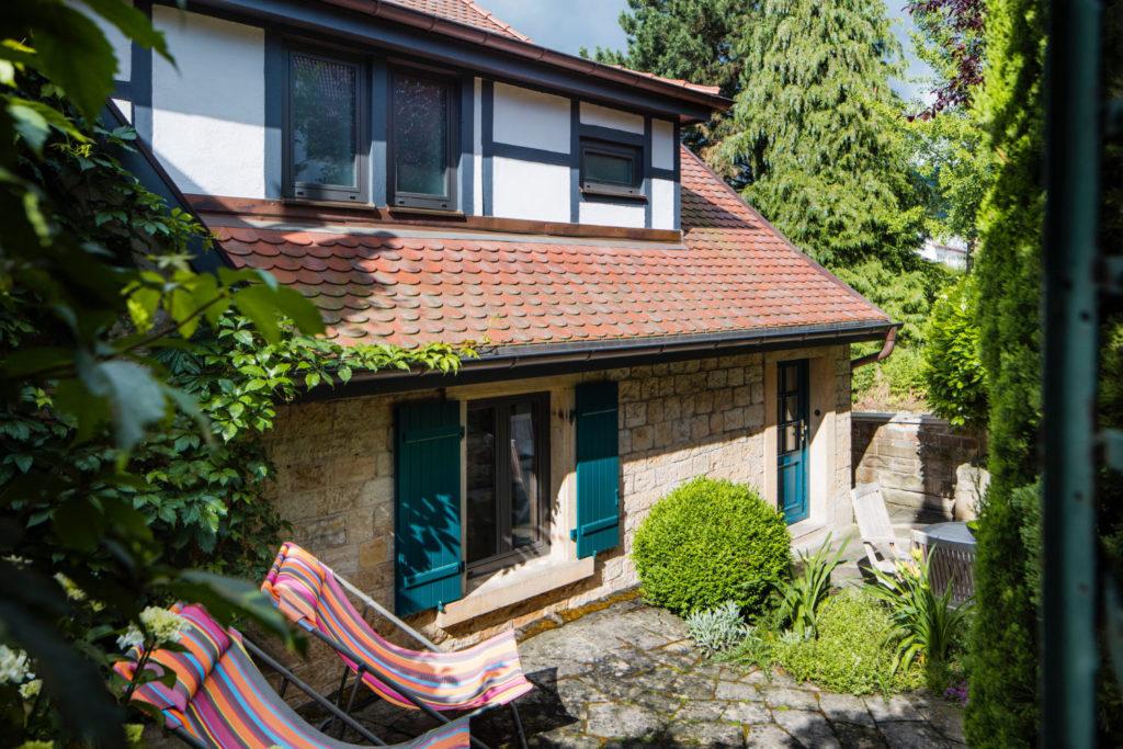 Loblocher Hof - Ferienwohnung 5 - Terrasse